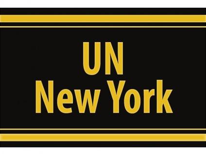 """1 x SAFE 1130 SIGNETTE Aufkleber selbstklebend """" UN-New York """""""