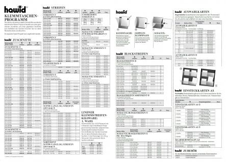 HAWID HA 4032 / HA4032 Schaufix 22 Streifen Beige Verpackung schwarze Klemmtaschen 210 x 32 mm - Vorschau 3