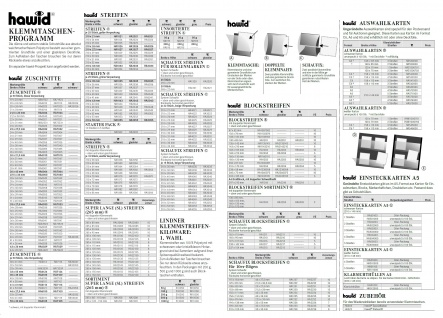 HAWID HA 4034 / HA4034 Schaufix 22 Streifen Beige Verpackung schwarze Klemmtaschen 210 x 34 mm - Vorschau 3