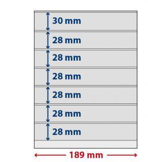 5 x LINDNER S802700H LINDNER-T freestyle Folienhüllen 7 Einsteckstreifen 28x189mm mit Klebestreifen