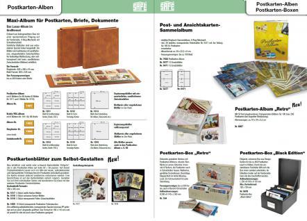 5 x SAFE 6021 Ergänzungsblätter SCHWARZ Postkarten Ansichtskarten 6 Taschen 108 x 155 mm für 12 Karten - Vorschau 3