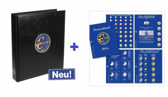 SAFE 5414-16 PREMIUM EURO Münzalbum Vordruckalbum Deutschland komplett + Münzblättern + Vordruckblättern 2016