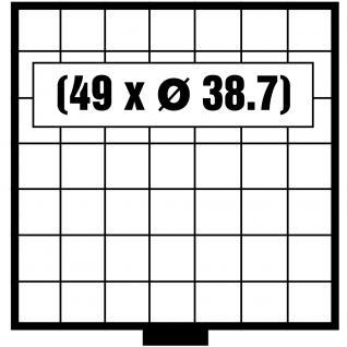 SAFE 6107 BEBA Maxi SCHUBLADEN 49 quadratische Fächer 38, 7 mm Ideal für 10 - 20 Euro Gedenkmünzen in Münzkapseln 32, 5 & 32, 5 PP