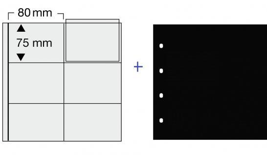 1 x SAFE 606 COIN Combi Münzblätter Ergänzungsblätter 6 x 75 x 80 mm Für große Münzrähmchen 67x67 mm