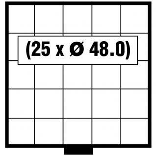 SAFE 6205 BEBA Schuber Schubladen Münzschuber 25 quadratische Fächer 48, 0 mm für den MINI Münzkasten