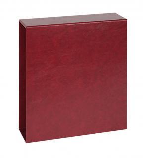 Lindner 1711 UNIPLATE Luxus Schutzkassette Weinrot - Rot Für den Ringbinder 1710
