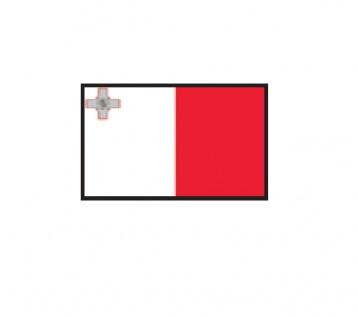 1 x SAFE 1175 SIGNETTE Flagge Malta Aufkleber Kennzeichnungshilfe - selbstklebend