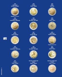 1 x SAFE 7822-2 TOPset Münzblätter Ergänzungsblätter Münzhüllen Münzblatt mit farbigem Vordruckblatt für 2 Euromünzen Gedenkmünzen 2006 - 2007