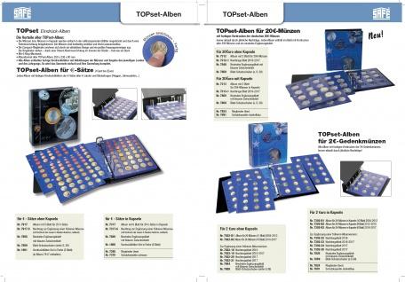 1 x SAFE 7822-22 TOPset Münzblätter Ergänzungsblätter Münzhüllen Münzblatt mit farbigem Vordruckblatt für 2 Euromünzen Gedenkmünzen - 2018 - Vorschau 2