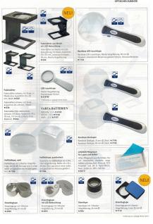 Lindner S7134 LED Taschen-Leuchtlupen Schiebelupe 2, 5x fache Vergößerung mit UV - LED Taschenlampe - Vorschau 4