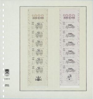 10 x LINDNER 802119P T-Blanko-Blätter Blankoblatt 18-Ring Lochung 2 Taschen 238 x 92 mm senkrecht Für Rollenmarken - Rollenstreifen - Vorschau 2