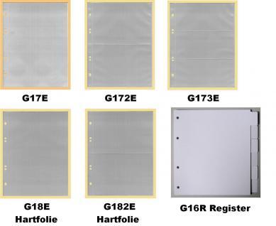 10 x KOBRA G18E Ergänzungsblätter Ersatztaschen HARTFOLIE A5 150x216 mm Für ETB 's Briefe Banknoten - Vorschau 2