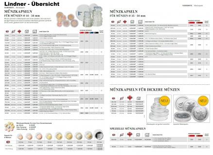 LINDNER 2954E Velourseinlagen Hellrot für Münzbox Münzboxen Kassetten Münzkoffer - Vorschau 5