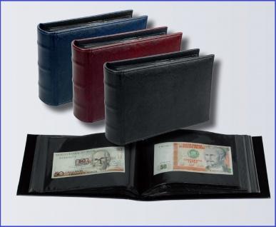 SAFE 4137 Banknotenalbum Schwarz Standard Innenmaße 195 x 130 mm Für 100 Banknoten Geldscheine Papiergeld Notgeld