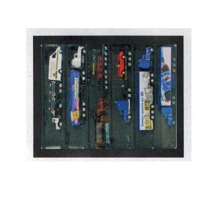 SAFE 5674 Black Edition Sammelvitrinen Vitrinen Setzkasten Maße 400 x 300 x 55 mm - mit 6 Fächern 275 x 57 x 43 mm