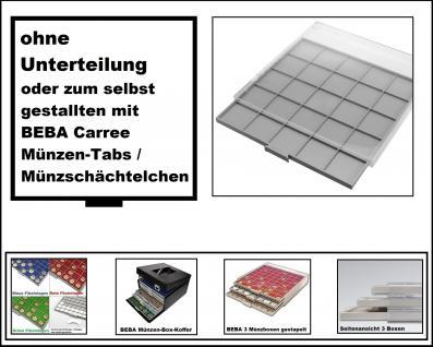 SAFE 6601 BEBA MÜNZBOXEN Standard Grau 1 quadratischem Fach 280 x 283 mm ohne Unterteilung + Ideal für Carree Münzentabs Münzschächtelchen Einlageschälchen