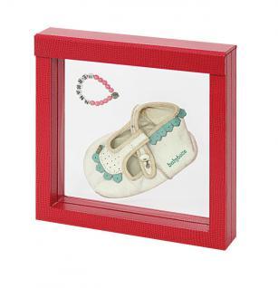 LINDNER 4868 NIMBUS 150 Sammelrahmen Rot Krokodesign Schweberahmen 3D 150x150x25 mm Für Taufgeschenke