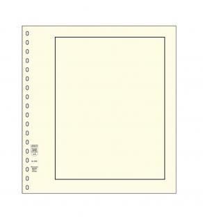 10 x LINDNER 802 Karton Blanko Blätter PERMAPHIL Weiß Schwarze Umrandunsglinie 193 x 251 mm Format 18-Ring Lochung 272 x 296 mm