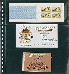 1 x LINDNER 823 Klarsichthüllen Schwarz mit 3 Taschen 242 x 90 mm Für Banknoten Briefe MH