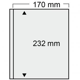 1x SAFE 878 Compact Ergänzungsblätter 170x232mm glasklar Jahresbücher Bundespost ab 1995 & DDR