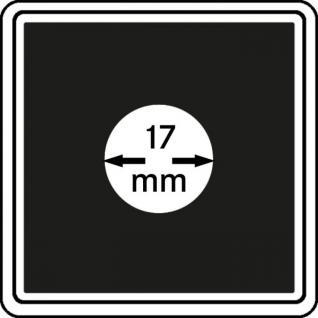 1 x LINDNER 2240017 Münzkapseln / Münzenkapseln CARREE 17 mm Für 1/10 OZ American Eagle - 1 Pfennig - Vorschau 1
