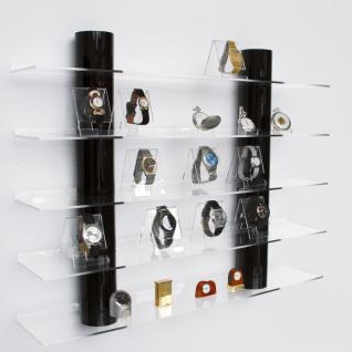 """SAFE 5297 Designer Acryl Hängeboard """" TOP View """" mit glasklaren Säulen & 5 Ebenen Für Uhren - Armband Uhren Taschenuhren"""