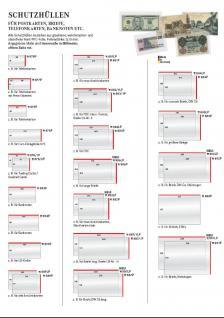 50 x LINDNER 891P Schutzhüllen Hüllen Banknotenhüllen 238 x 168 mm Ideal für Briefe - Kleinbogen Banknoten - Vorschau 3