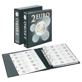 1 LINDNER MU2E4 Multi Collect Münzhüllen Münzblätter Vordruckblatt 2 Euro Gedenkmünzen Portugal September 2008 - Luxemburg Jan 2010 - Vorschau 2