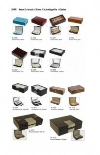 SAFE 0012 Leder Reiseetui Uhren Etui Koffer Uhrenbox in matt Carbo - Schwarz für 8 Armbanduhren Uhrenetui - Vorschau 4