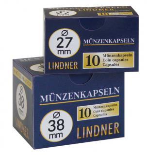 10 LINDNER Münzkapseln / Münzenkapseln Capsules Caps 37 mm 2250037P - Vorschau 3