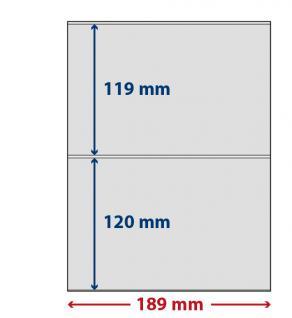 5 x LINDNER S802204H LINDNER-T freestyle Folienhüllen 2 Taschen 119 /120 x 189 mm mit Klebestreifen