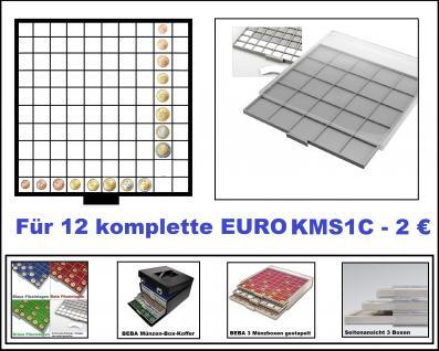 SAFE 6610-6 BEBA MÜNZBOXEN 100 quadratische Fächer 26, 5 mm + weißen Kartoneinlagen Für 12 komplette Euro Kursmünzensätze KMS von 1 , 2 , 5 , 10 , 20 , 50 Cent & 1 , 2 Euromünzen