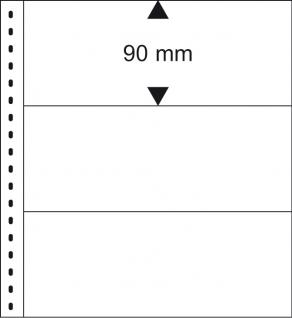 LINDNER 2815 - W - Banknotenalbum Ringbinder Regular Weinrot Rot + 20 Einsteckblättern schwarz Mixed 850 & 851 mit 2 & 3 Taschen für Banknoten Geldscheine - Vorschau 2