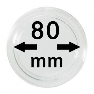 1 x Lindner S22708000 Spezial Münzkapseln Kapseln EXTRA HOCH Innen-Ø 80 mm, Innenhöhe 5, 7 mm Idealf ür Geocoins & TBs Travel Bugs & Geocaching