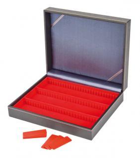 LINDNER 2368-2403E NERA VARIUS Sammelkassetten mit hellroter Einlage 3 varaiblen Fächern Für Mineralien - Fossilien - Edelsteine