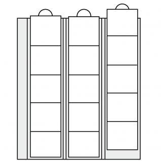 2 x SAFE 5412 Compact A4 Münzhüllen Ergänzungsblätter Hüllen 35 Fächer bis 26 mm + schwarze ZWL - Vorschau 4