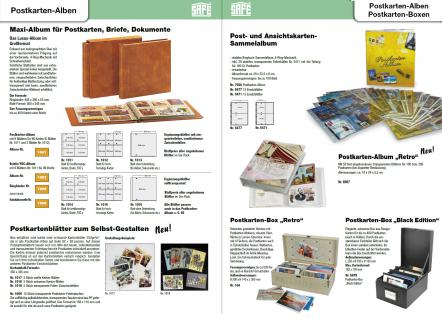 SAFE 1317-1 Standard Postkartenalbum Album Ringbinder Bordeaux Rot (leer) zum selbstbefüllen - Erweiterbar bis 300 Postkarten Ansichtskarten - Vorschau 5