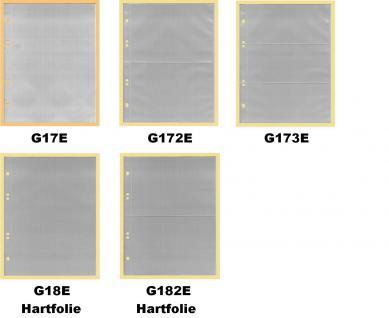 KOBRA G172 Grün Postkartenalbum Sammelalbum + 20 glasklaren geteilten Blättern G172E für 80 Postkarten - Ansichtskarten - Banknoten - Geldscheine - Vorschau 3