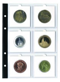 5 x SAFE 7857 Coin Compact Münzhüllen Hüllen Ergänzungshüllen Für 6 große Münzrähmchen 67 x 67 mm
