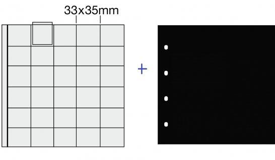 5x SAFE 830 COIN Combi Münzblätttter Ergänzungsblätter 30 x 29 mm für 2 Euro - 5 DM