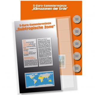 1 x SAFE 7360-3 Premium Münzblatt & Vordruckblatt Deutsche 5 Euromünzen Blauer Planet Erde Subtropische Zone 2018 Edition 2016 - 2021