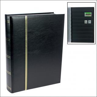 SAFE 154-5 Briefmarken Einsteckbücher Einsteckbuch Einsteckalbum Einsteckalben Album Schwarz wattiert 60 schwarze Seiten