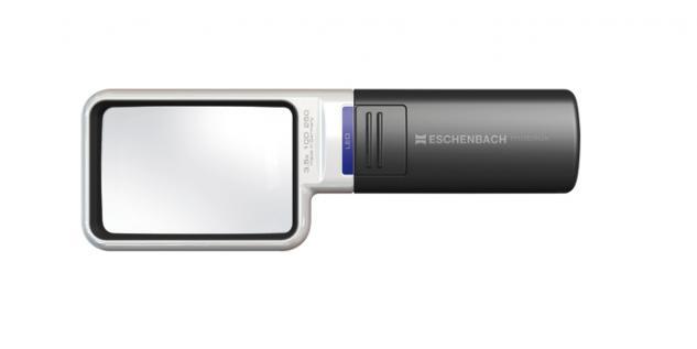 LINDNER 7126 ESCHENBACH Taschenleuchtlupe Leuchtlupe mobilux LED 4 fache Vergrößerung Linse 75x50 mm - Vorschau 1