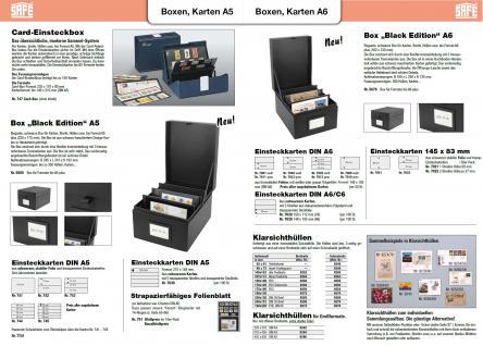 10 SAFE 742 DIN A5 Einsteckkarten Steckkarten Klemmkarten schwarze Folie + 2 Streifen glasklar 72x210 mm - Vorschau 3