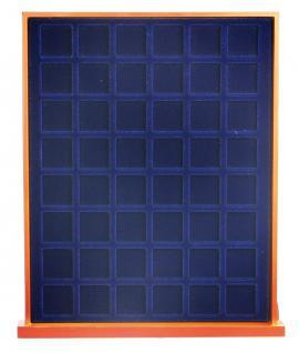 SAFE 6822 Nova Exquisite Holz Münzboxen Schubladenelement 48 Eckige Fächer x 22, 5 mm Für 10 - 50 Pf - 5 - 10 - 20 Cent € Euro - viele 1/4 Unze Goldmünzen - 5 & 10 Goldmark Kaiserreich - Vorschau 2