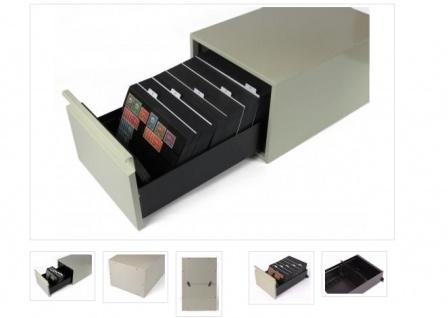 KOBRA KS2 Hellgrauer Stahlblech Karteikasten A5 leer Für bis zu 520 Einsteckkarten Steckkarten DIN A6 C6 A5