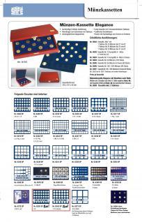 SAFE 5894 Elegance Echtholz Münzkassetten mahagonifarbend 3 Tableaus 6326 - 105 Fächer Für 2 Euro Münzen Gedenkmünzen - Vorschau 4