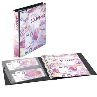 LINDNER 1138 0-Euro Souvenirscheine Banknotenalbum Sammelalbum Karat + 10 Blätter K02 für bis zu 20 Scheine