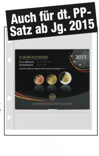 """1x SAFE 884 Coin Compact Ergänzungsblätter Spezialblätter Münzhüllen 1 Tasche 165 x 180 mm Für 1 x Deutsche Euro KMS """" PP auch ab Jg. 2015"""