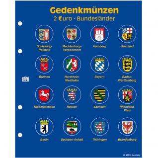 1 x SAFE 7827 TOPset Münzalbum Hülle für 16 x 2 Euromünzen Deutsche Bundesländer 2006 - 2021 - Vorschau 1